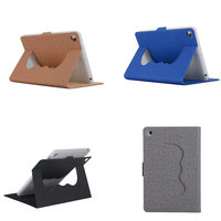 Cloth Grain PU Leather Material With Soft TPU Back Sleep Wake Up Holder Protective Smart Cover