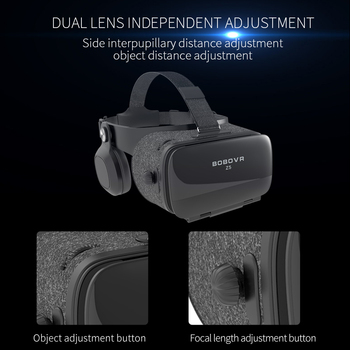 BOBOVR Z5 120 FOV VR Virtual Reality Glasses Remote 3D Android Cardboard VR 3D Headset Stereo Helmet Box for Smartphones 4.7-6.2 2