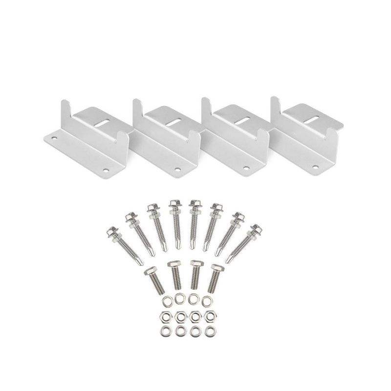 Image 2 - 1Set Solar Panel Z Style Aluminum Brackets Nuts Bolts And Washers For Mounting Solar Panels On Motorhomes Caravans Boats Roofs-in RV Parts & Accessories from Automobiles & Motorcycles