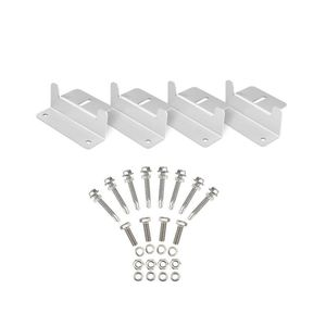Image 2 - 1Set Solar Panel Z Style Aluminum Brackets Nuts Bolts And Washers For Mounting Solar Panels On Motorhomes Caravans Boats Roofs