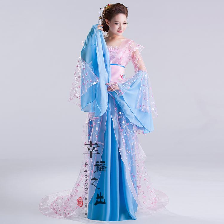 New Design Chinese Ancient Style Hanfu Tang Suit Women&Fairy Princess Stage Clothes Fancy Dress Folk Dance Costume