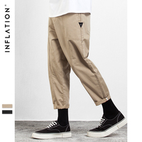 INFLATION New Collection Brand Clothing Ankle length Pants Hip Hop Fashion Loose Fit Casual Pants For Men Solid Trousers 310W17