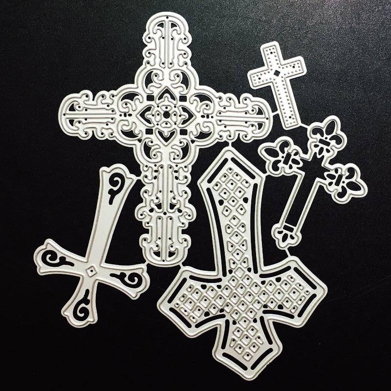SCD878 Cruz de Metal de corte muere para Scrapbooking plantillas DIY álbum tarjetas decoración en relieve carpeta morir cortes cortador herramientas nuevas