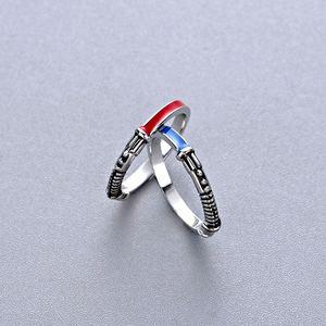 Лучшее серебряное кольцо в стиле фильма, световое кольцо, набор для мужчин, панк, Винтажное кольцо, модные ювелирные изделия из фильма, рожде...