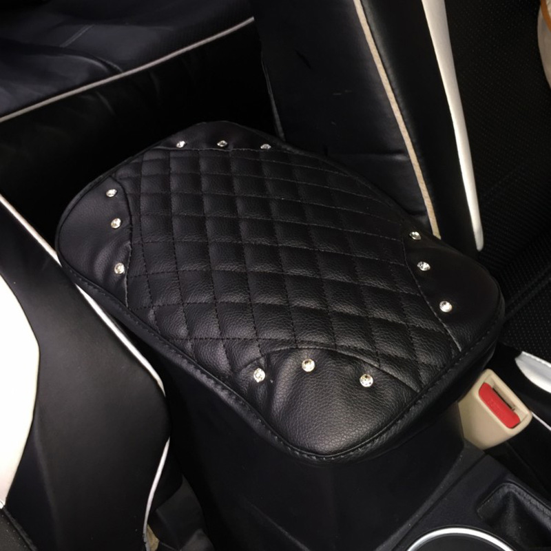 Crown-with-Crystal-Rhinestone-Car-Armrests-Cover-Pad-PU-Leather-Vehicle-Center-Console-Arm-Rest-Box-8