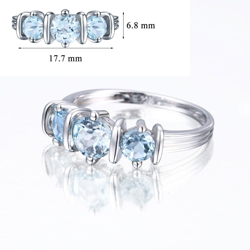 DOUBLE R 1.14ct ナチュラルブルートパーズ宝石 925 スターリングシルバー女性のための  グループ上の ジュエリー & アクセサリー からの 指輪 の中 3