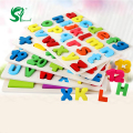 Wooden English Alphabet Puzzles toys for children Montessori digital Board Learning letters Educational puzzle Toy Baby Kids Toy