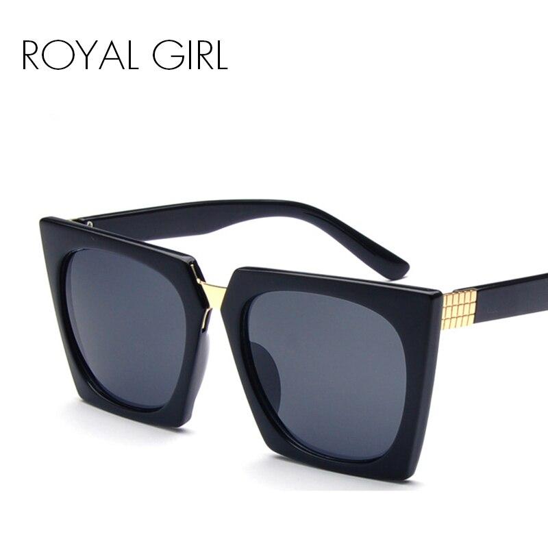 6e237d6e1538a MENINA REAL Mulheres de Acetato de Óculos De Sol Do Vintage óculos de Sol  Pretos quadrados