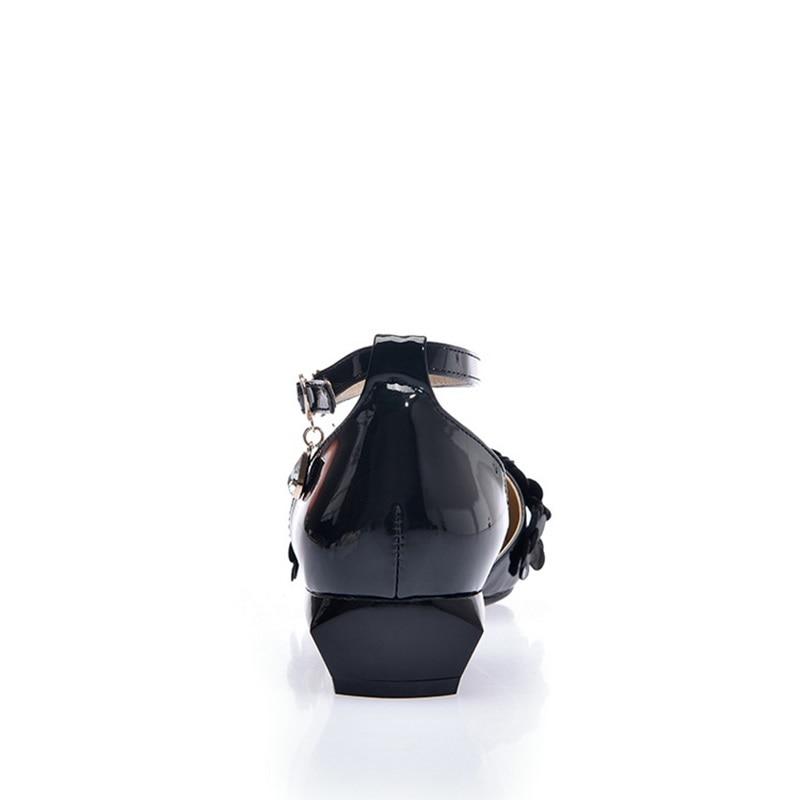 Puntiagudo Del Dedo Nuevo Black Egonery Cómodos Primavera De Flor purple Superficial Dulce Las Pie Fuera Hebilla white 2019 Mujer Punta Planos Zapatos Mujeres XxqTwZx6f