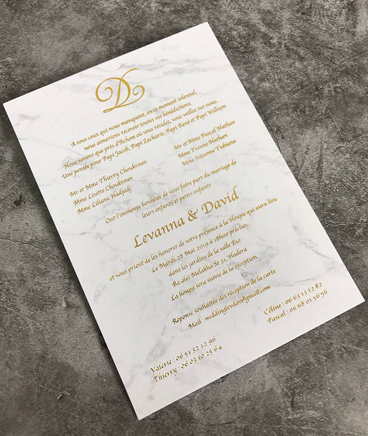 Us 200 0 Simple Gold Foil Marble Design Flat Wedding Invitation Cards In Cards Invitations From Home Garden On Aliexpress