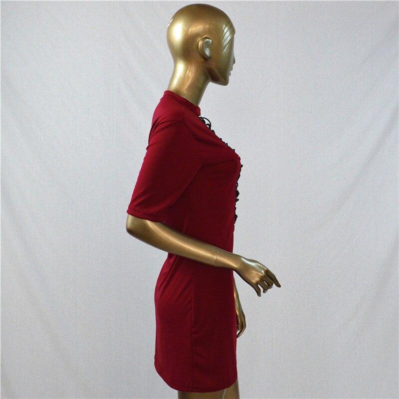 HTB1UKVcOpXXXXXrapXXq6xXFXXXx - Sexy Out Lace Up V Neck Dress Women Short Sleeve PTC 48