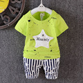 new 2016 summer boys suit star pattern t shirt+striped pants 2pcs boys clothes outfits casual baby boy sets for newborn pajamas