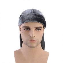 NEW HOT Unisex Men Women Breathable Bandana Hat velvet Durag long tail headwrap chemo cap Biker Pirate Hair Accessories