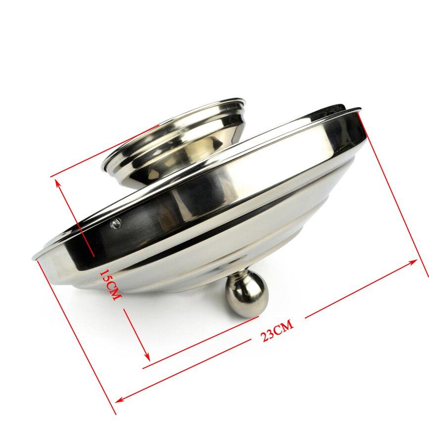 1 set colombe Pan Double charge en acier inoxydable scène tours de magie Illusion haute qualité feu magique accessoire professionnel accessoire magique - 2