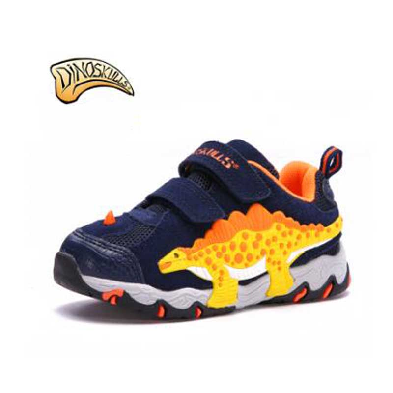 Hot Sale Led Boys Shoes Spring/Autumn Lighted Cartoon Breathable Fashion Baby Sneakers Kids Shoes Luminous 3D Dinosaur Shoes