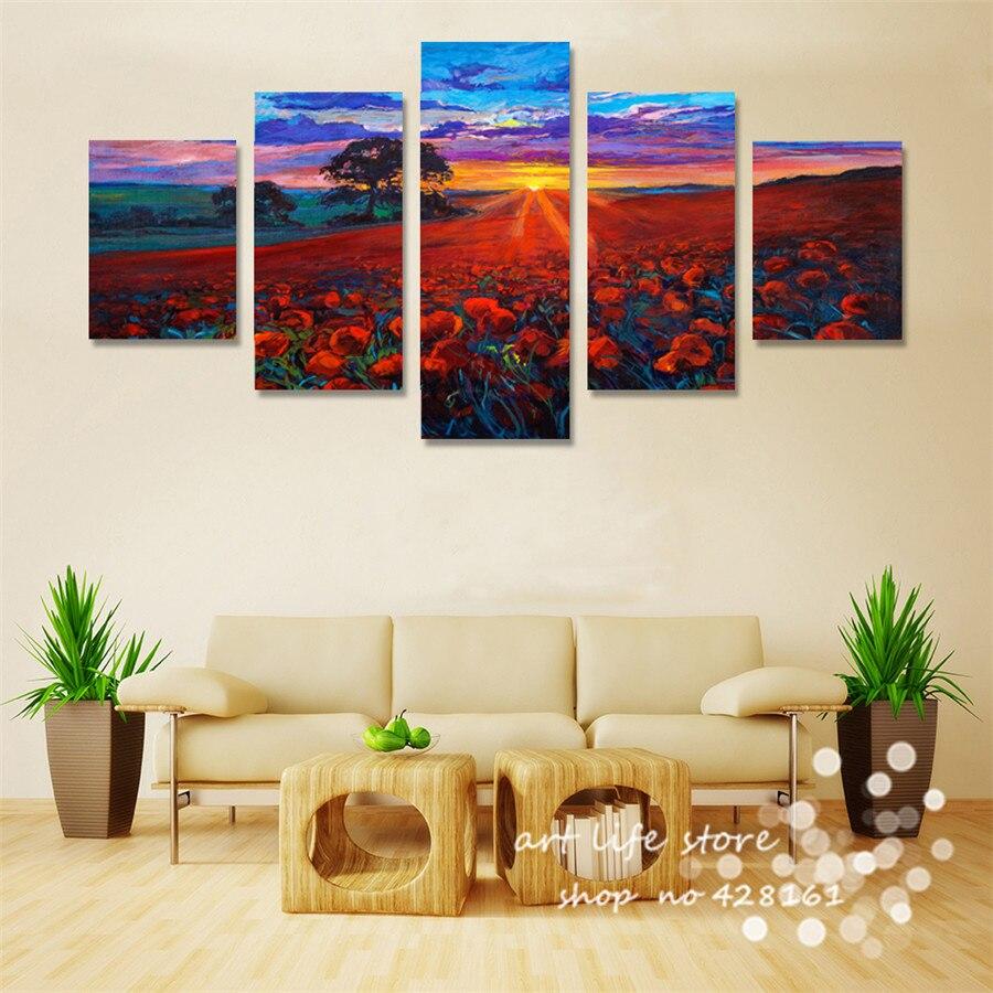 Christmas Decoration Canvas Painting Great Feel Flower Sea Sunny Sky ...
