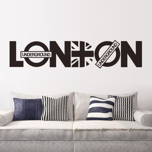 Murals Wallpaper Quote London Britpop Wall Decoration Stickers Family Wall  Decal Decorative Stickers Vinyl Wall Art