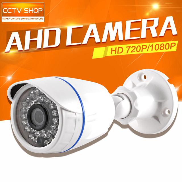 Outdoor 1MP AHD Câmera de 2MP 720 P 1080 P HD Analog Dome CCTV Visão Noturna da câmera À Prova D' Água Câmera De Segurança IR Cut Trabalho Para AHD DVR