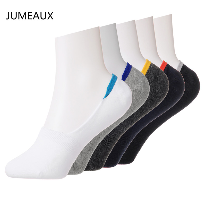 JUMEAUX Hot Sale Socks Set Men Cotton Prevent Drop out Silica Gel With Color In The Back Socks For Men Boys 2017