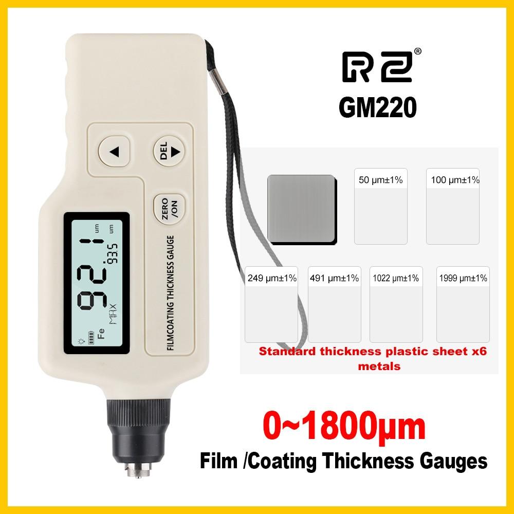 RZ Film coating thickness gauge Smart Sensor Auto Calibration Digital Thickness Meter Tester Professional LCD Display