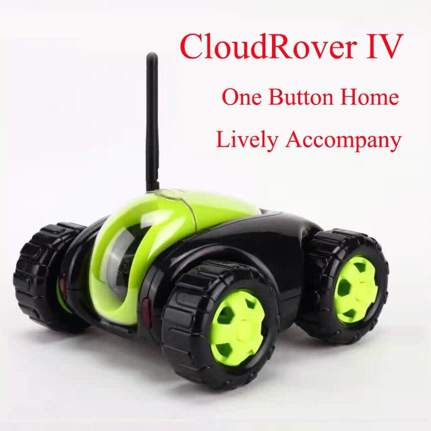 Радиоуправляемая машина с ip камерой 4CH Wifi tank Cloud Rover IV воспроизведение видео бытовая техника ИК пульт дистанционного управления одна кнопка