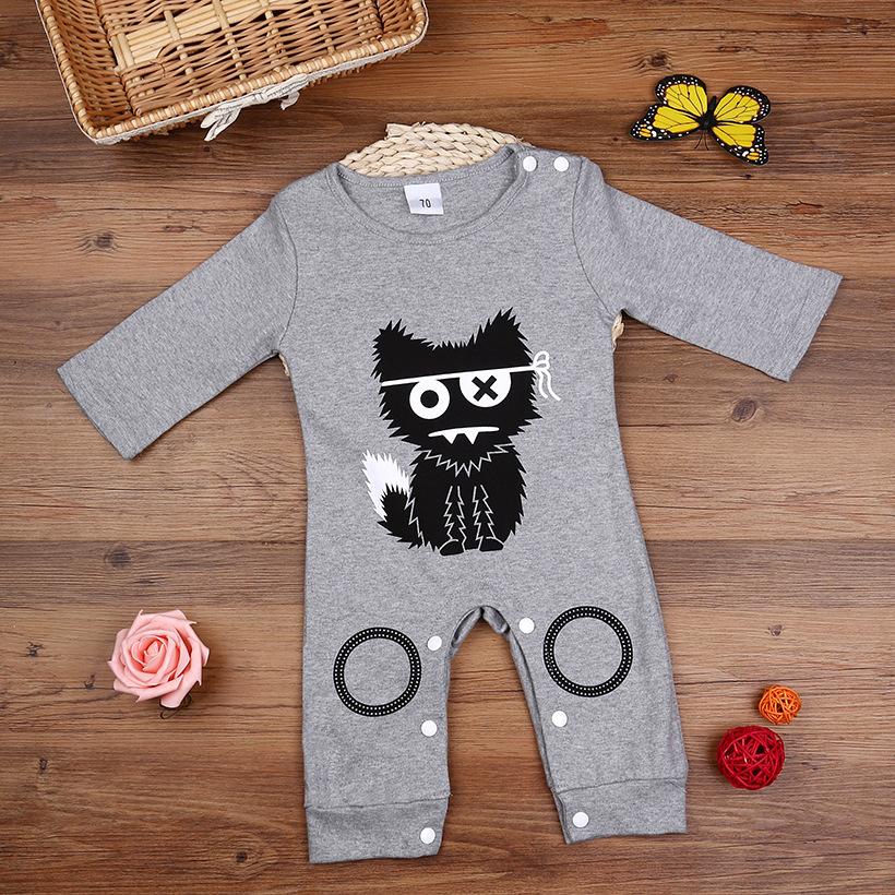 Cotton Newborn Kids Baby Girls Boy Romper Long Sleeve Cute cartoon cat clouds Baby Boys Clothes infant children clothing cotton baby rompers set newborn clothes baby clothing boys girls cartoon jumpsuits long sleeve overalls coveralls autumn winter