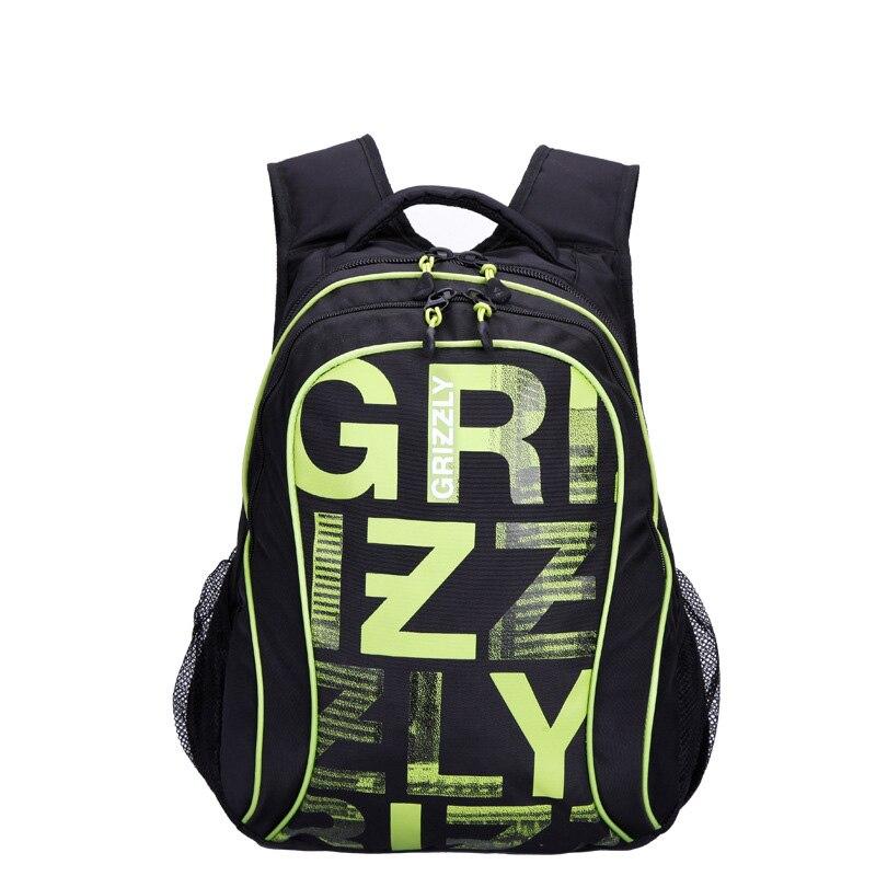 Russian Grizzly Printing font b Backpack b font computer font b laptop b font font b