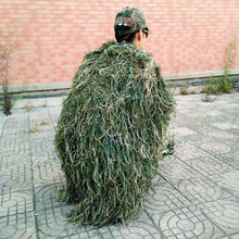 Men Ghillie Blankets/Cover Camouflage Ghillie Suit Hat Handmade Knitting 80x90cm Hunting Cloak Camouflage Hunting Clothes Cover(China)