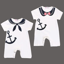 New Newborn Baby Boy Girl Anchor Sailor Romper Playsuit Outfits Clothes