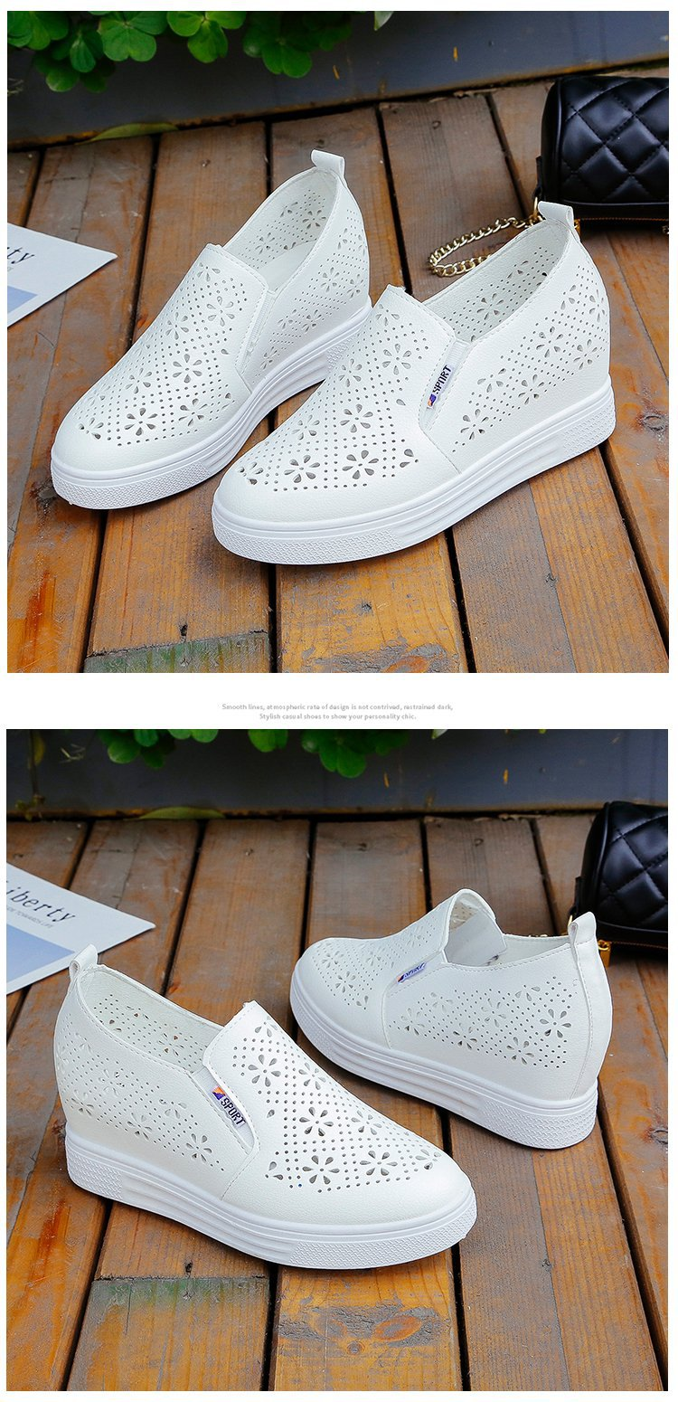 White Shoes Women Platform Flat Shoes
