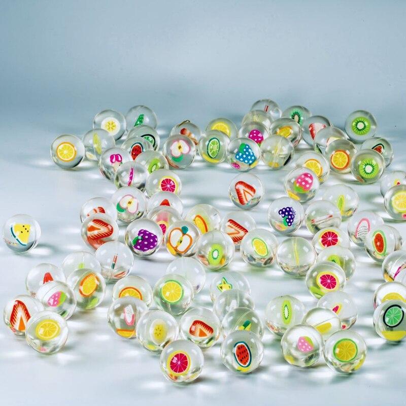 2,5 cm Obst Klar Gummi Prellen Flummis Schwimm malabares Jonglieren Springen Outdoor Sport Spielzeug für Baby Kinder
