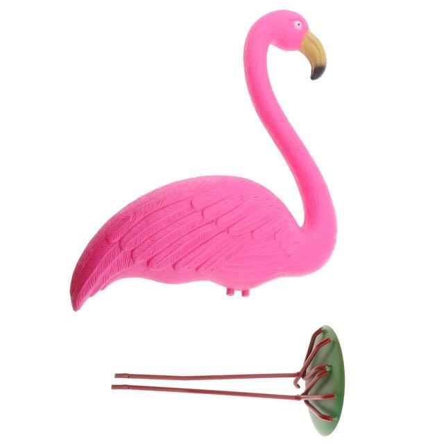 Online Shop Pink Lawn Flamingo Figurine Plastic Grassland Garden ...