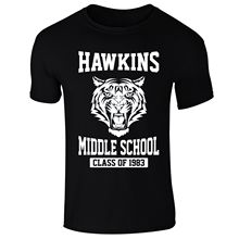 Mens Hawkins Middle School Stranger Things Inspired T-shirt NEW S-XXL  Funny Tops Tee New Unisex free shipping
