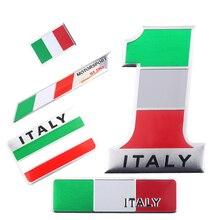 Adhesivo de bandera nacional con diseño de coche de aluminio en 3D mapa italiano de Italia emblema de parrilla para motocicleta Calcomanía para Ferrari Fiat Piaggio Vespa