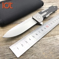 LDT TC4 Titanium Carbon Fiber Handle Sparta Folding Knife S35VN Blade Hunting Camping Outdoor Knives Survival Utility Knife Tool