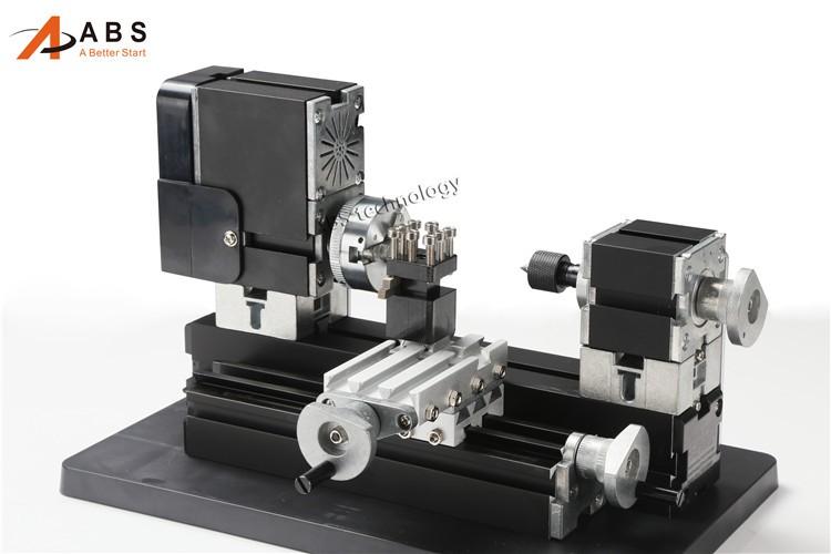 12000rmin 60W,All-Metal 8 in 1,Milling ,Drilling ,Wood Turning,Jag,Saw,Sanding Mini Lathe Machine,for DIY work tool (20)