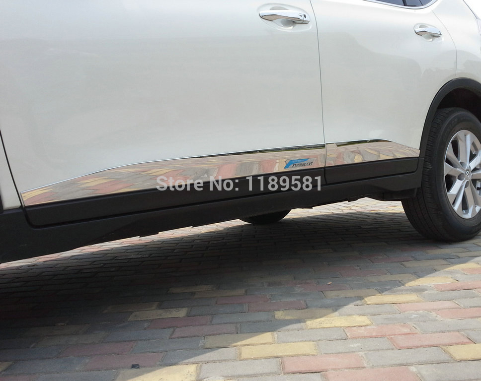 For Nissan X Trail Rogue 2014 2015 2016 Abs Chrome Side Door Body Moulding Molding Trim In