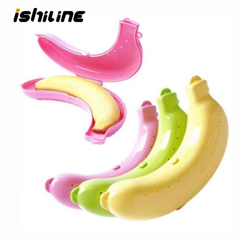 Nowy kwalifikacje śliczne 3 kolory owoce pojemnik na banana pudełko pojemnik na lunch do przechowywania box dla dzieci chronić etui z owocami