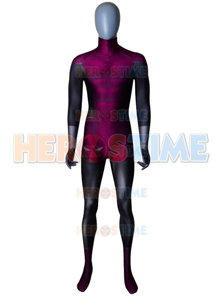 High Quality Beast Boy Costume Spandex X-men Beast Boy Teen Titans Zentai Suit Halloween Comics Cosplay Costume for Kids Boys
