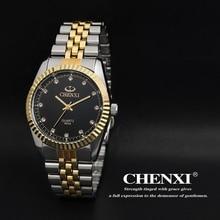 Función Del Reloj de Reloj CHENXI Marca Hombres Mujeres Oro Intergranular Acero Relojes Fashion Business Cuarzo reloj de Pulsera Relogio masculino