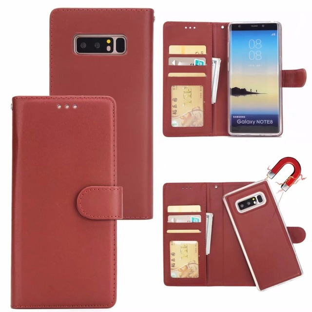 new concept 9b273 0ce1e US $6.99 20% OFF|LANCASE For Samsung Galaxy Note 8 Case Leather Vintage  Card Holder Detachable Flip Cover For Samsung Note 8 Case Wallet  Magnetic-in ...