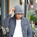 Hombres Gorros Sombreros Otoño Bicapa Cotton Knit Caps Casual etiqueta Tapa Multiusos 2016 Hombres Calientes de La Venta Accesorios barato