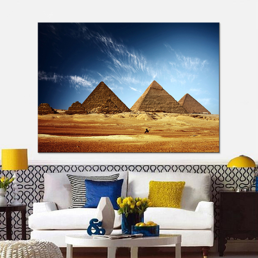 1 Pcs Mesmerizing Egypt Pyramid HD Printed Picture Wall Art Home Decor Poster Canvas Painting Baby Girl Room Decor