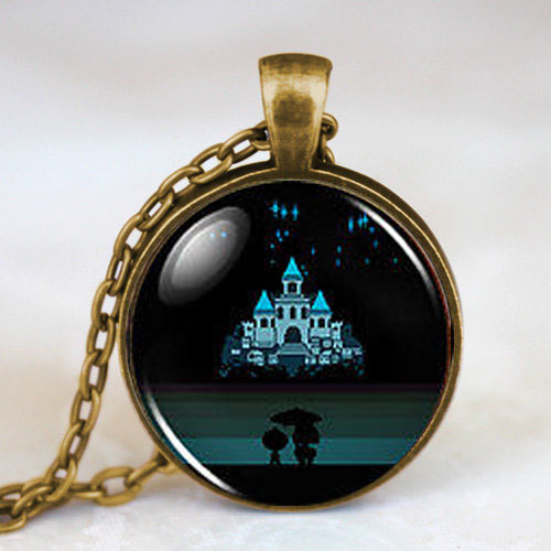 Undertale Castle Game Gaming Men Handmade Fashion Necklace brass silver Pendant steampunk Jewelry Gift women new chain toy mens