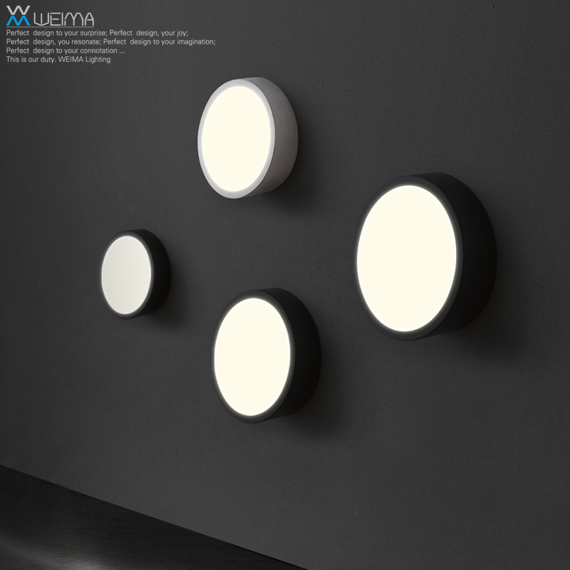 Wilma personality LED living room bedroom modern minimalist art lamp wall lamp lighting balcony aisle lights round wall light 12w led wall lamp bedroom bedside living room hallway stairwell balcony aisle balcony lighting ac85 265v hz64