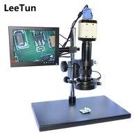 2.0mp VGA HD цифровой промышленный микроскоп Камера USB AV ТВ видео Выход 180x C-Mount зум-объектив 144 LED осветительные стойки держатель