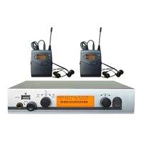 Профессиональный в ухо монитор Системы UHF Беспроводной сценический монитор Системы 2 приемники
