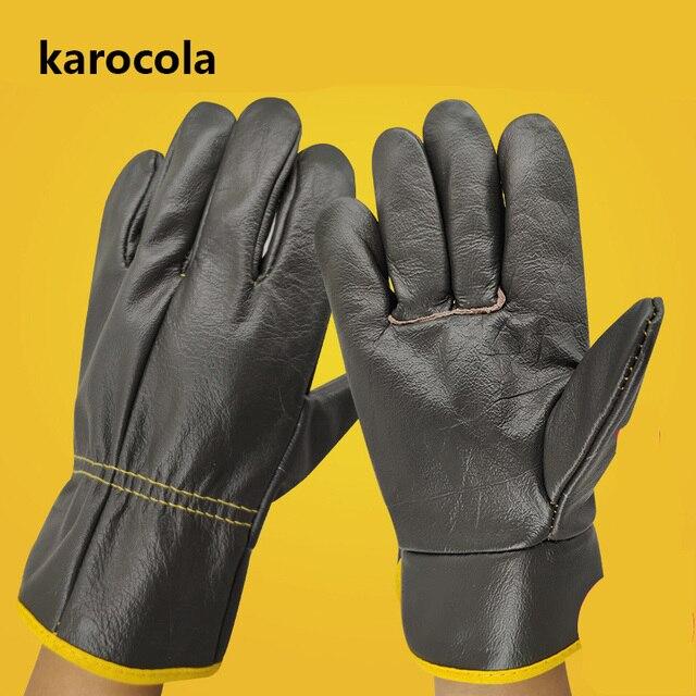 溶接手袋作業牛革男性作業安全保護ガーデンスポーツモト耐摩耗性手袋溶接ツール
