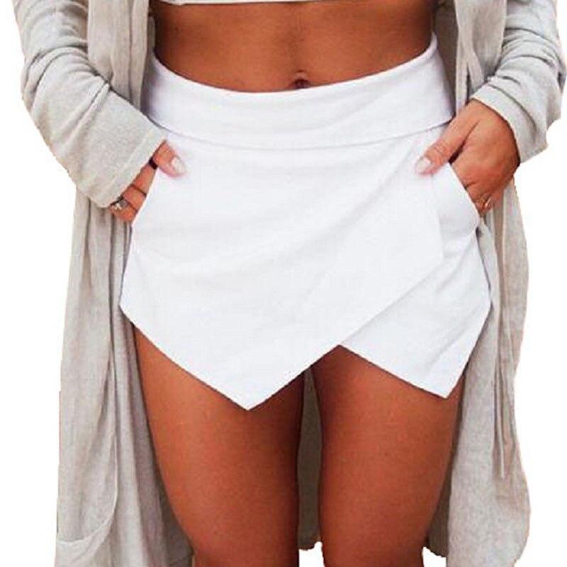 2020 New Mini Skirt Women Summer Fashion Asymmetrical Sexy Skirt Casual Solid Color Slim Stretch Bright Zipper Pencil Skirts(China)
