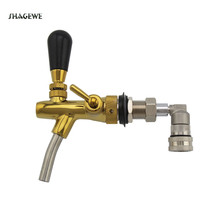Adjustable Tap Faucet Beer With Stainless Steel Liquid Ball Lock Homebrewing